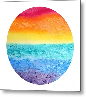Metal Print featuring the painting Rainbow Landscape  by Susan  Dimitrakopoulos