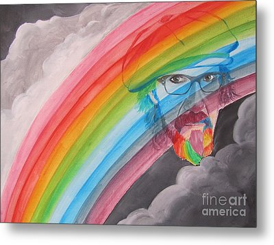 Rainbow Man Mark Hudson Metal Print by Jeepee Aero