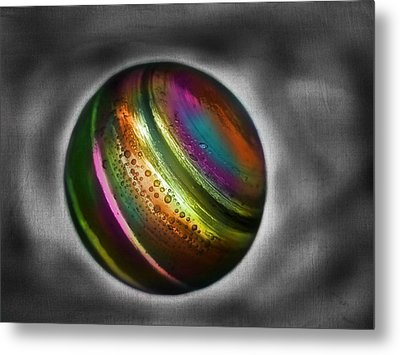 Rainbow Marble Metal Print by Marianna Mills