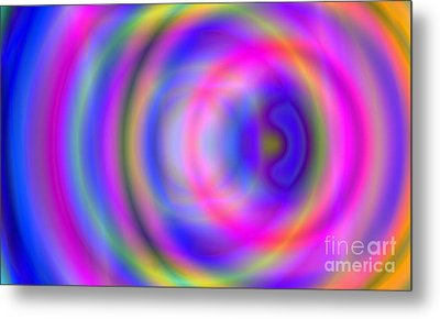 Rainbow Of Rings Metal Print by Christy Leigh