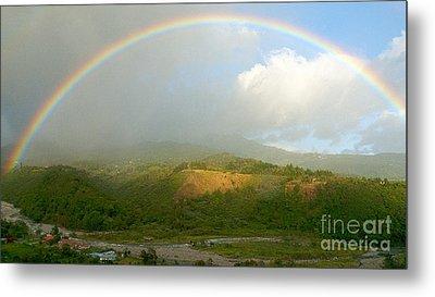 Rainbow Over Boquete Metal Print by Heiko Koehrer-Wagner