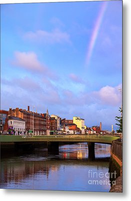 Rainbow Over Cork Metal Print