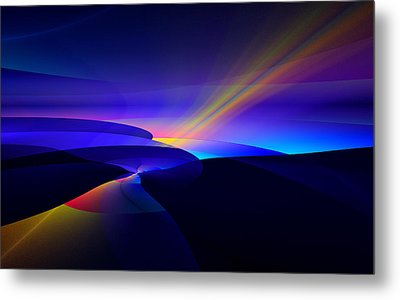Rainbow Pathway Metal Print by GJ Blackman