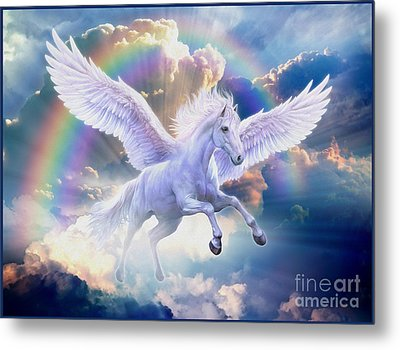 Rainbow Pegasus Metal Print by Jan Patrik Krasny
