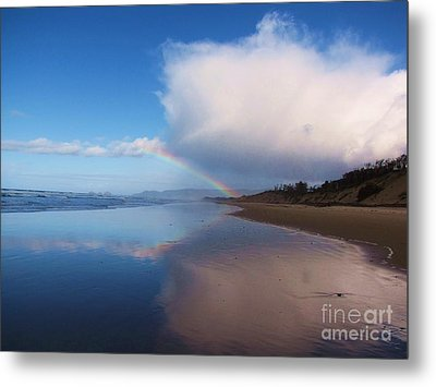 Rainbow Reflection Metal Print by Michele Penner