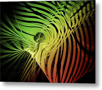 Rainbow Ribs Metal Print