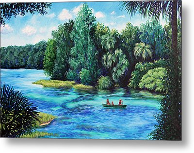 Rainbow River At Rainbow Springs Florida Metal Print by Penny Birch-Williams