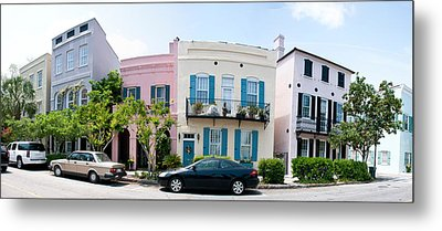 Rainbow Row Colorful Houses Metal Print by Panoramic Images
