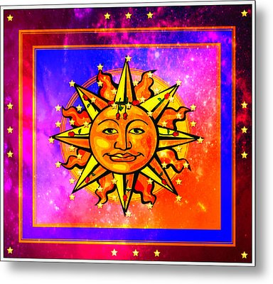 Metal Print featuring the digital art Rainbow Sun by Mary Anne Ritchie