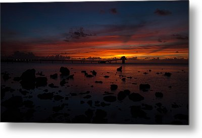 Rainbow Sunset Metal Print by Brian Governale