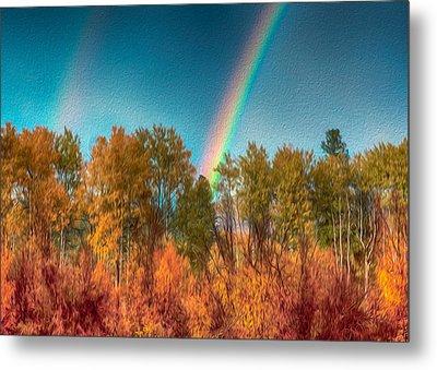 Rainbow Surprise Metal Print by Omaste Witkowski