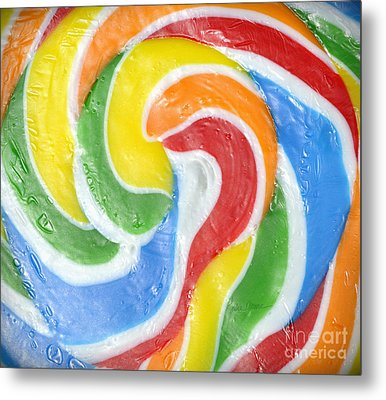 Rainbow Swirl Metal Print by Luke Moore