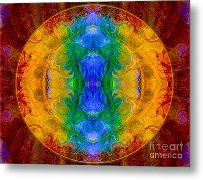 A Rainbow Of Chaos Abstract Mandala Artwork By Omaste Witkowski Metal Print by Omaste Witkowski
