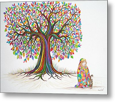 Rainbow Tree Dreams Metal Print by Nick Gustafson