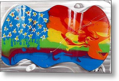 Rainbow Wave - Edition 3 Metal Print by Mac Worthington