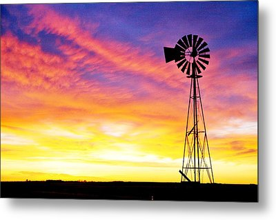 Rainbow Windmill Metal Print by Shirley Heier