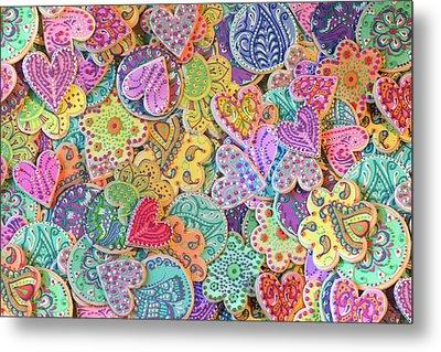 Rainbow_henna_cookies Metal Print by Alixandra Mullins