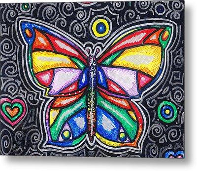 Rainbows And Butterflies Metal Print by Shana Rowe Jackson