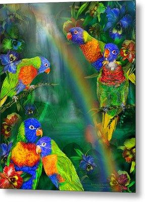Rainbows In Paradise Metal Print by Carol Cavalaris