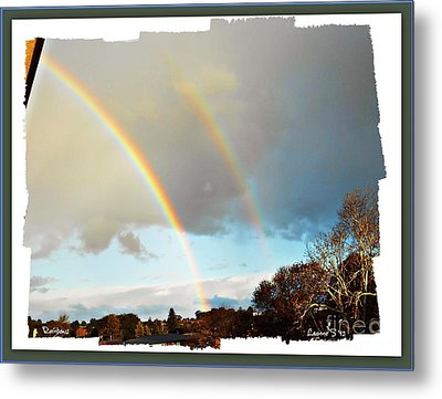 Metal Print featuring the photograph Rainbows by Leanne Seymour