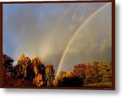 Rainbows Of Autumn Metal Print by Debra     Vatalaro