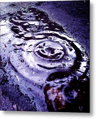 Raindrop Metal Print by Lucy D