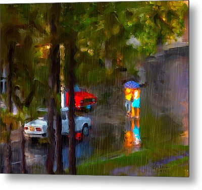 Metal Print featuring the photograph Raindrops At Cuba by Juan Carlos Ferro Duque