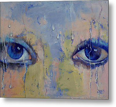 Raindrops Metal Print by Michael Creese