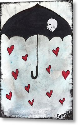 Raindrops Of Love Metal Print by Oddball Art Co by Lizzy Love