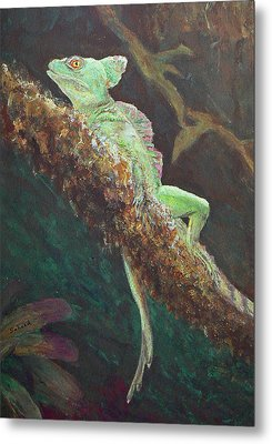 Rainforest Basilisk Metal Print