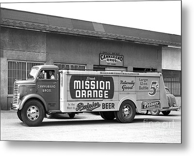 Metal Print featuring the photograph Rainier Beer Mission Orange by Vibert Jeffers