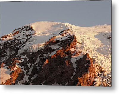 Rainier Summit Metal Print by Sharon Seaward