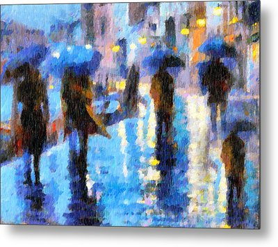 Raining In Italy Abstract Realism Metal Print by Georgiana Romanovna