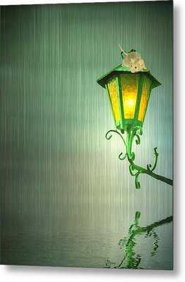 Raining Metal Print by Sharon Lisa Clarke