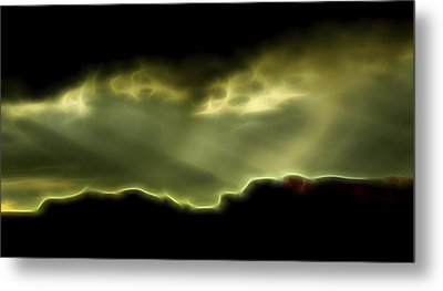 Metal Print featuring the digital art Rainlight 1 by William Horden