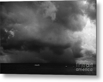 Rainstorm Thunderstorm Storm Clouds Approaching Key West Florida Usa Metal Print by Joe Fox