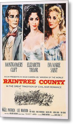 Raintree County, Us Poster, From Left Metal Print by Everett