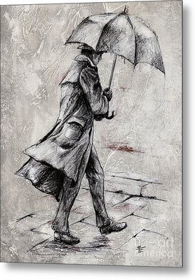 Rainy Day #07 Drawing Metal Print
