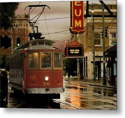 Rainy Day In Memphis Metal Print by Don Wolf