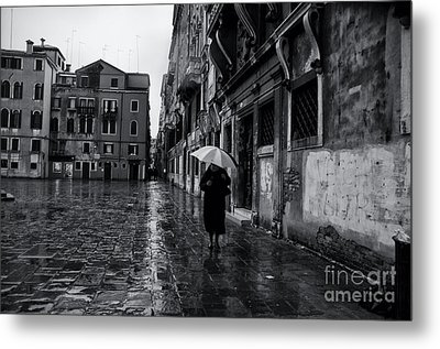 Rainy Day In Venice Metal Print by Design Remix