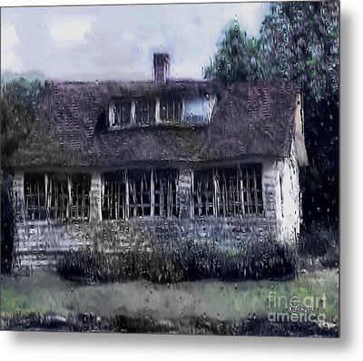 Rainy Day Long Ago House Metal Print by RC deWinter