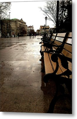 Metal Print featuring the photograph Rainy Day by Lucy D