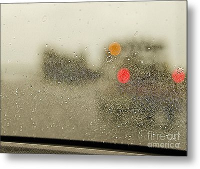 Rainy Day Perspective Metal Print by MaryJane Armstrong