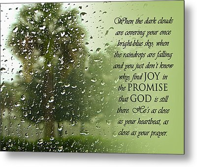Rainy Day Promise Metal Print by Carolyn Marshall