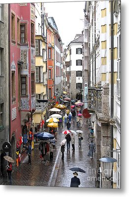 Rainy Day Shopping Metal Print
