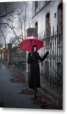 Rainy Day Metal Print by Cambion Art