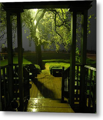 Metal Print featuring the photograph Rainy Night by Susan D Moody