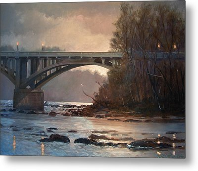 Rainy River Metal Print