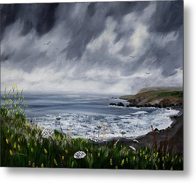 Rainy Springtime In Pacifica Metal Print
