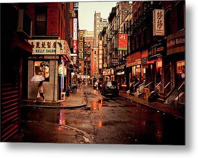 Rainy Street - New York City Metal Print